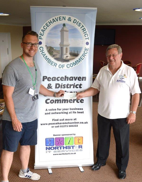 Kent, Surrey and Sussex Air Ambulance at Peacehaven Chamber